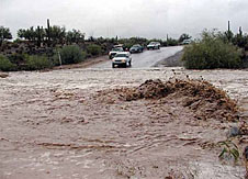 Satellite data can help predict flash floods like this one in Arizona