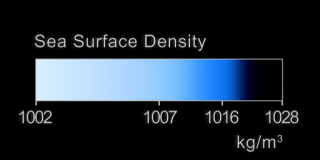 Color bar for sea surface density