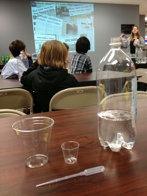 Freshwater availability activity in the classroom
