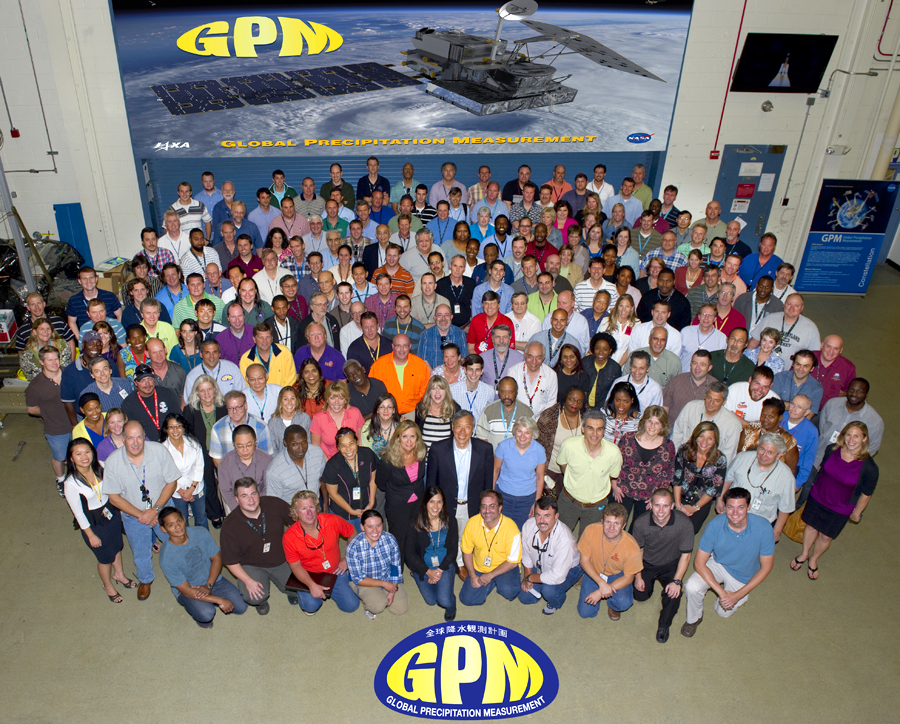 Group photo of the GPM flight project team