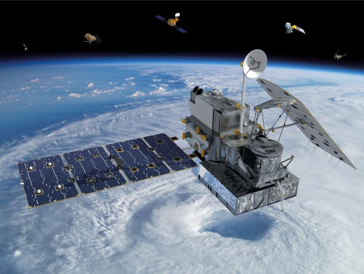 Artists rendering of the GPM satellite