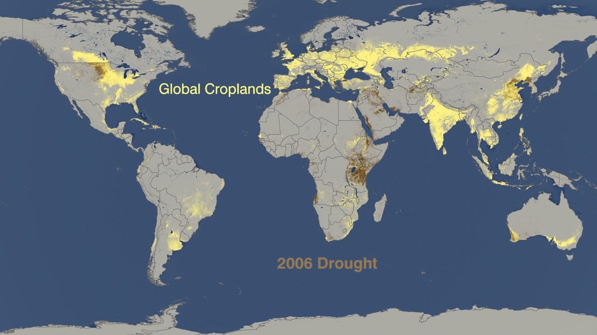 Drought vs. crop production 2006