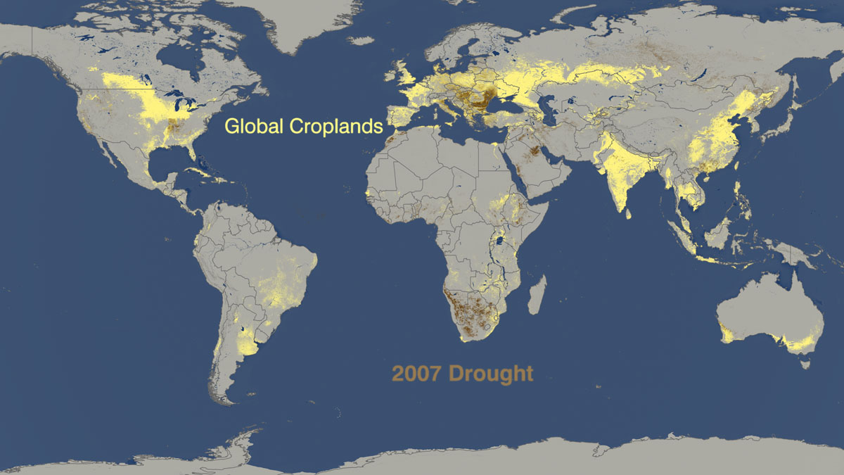 Drought vs. crop production 2007