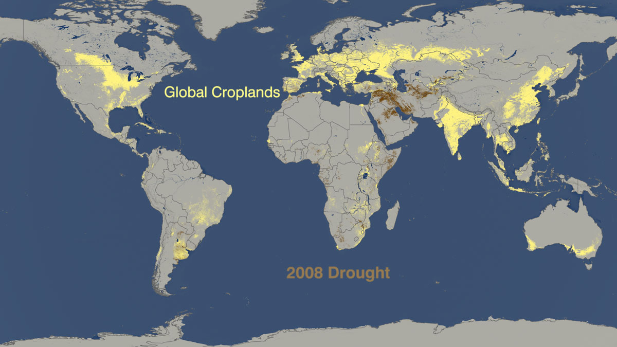 Drought vs. crop production 2008