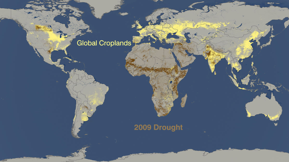 Drought vs. food production 2009