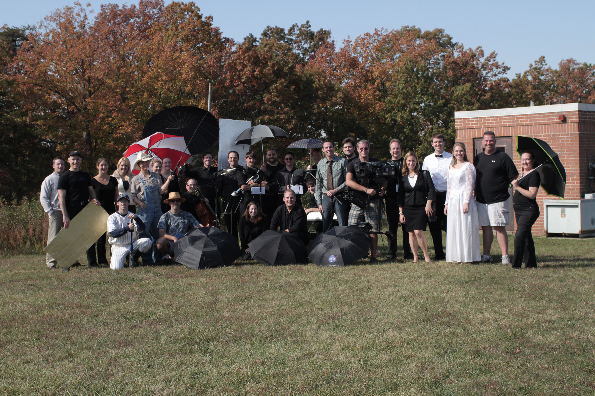 Group shot of the cast and crew of GPM: For Good Measure
