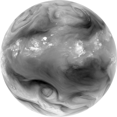 View of Earth's water vapor