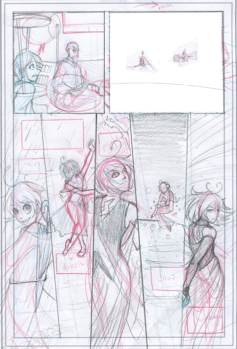 GPM Meets Mizu-Chan penciling stage