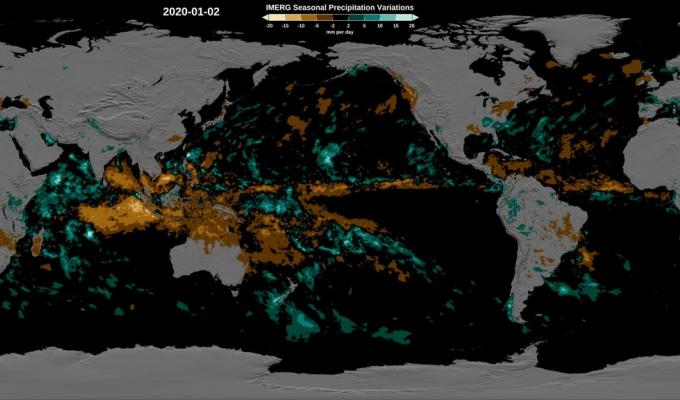 IMERG average precipitation map