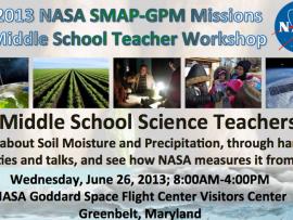 GPM / SMAP Middle School Teachers Workshop