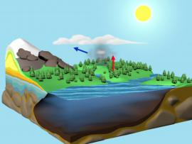 Thumbnail showing animation of the water cycle