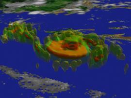 Satellite imagery of Hurricane Floyd