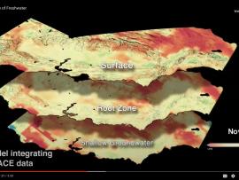 GRACE water map