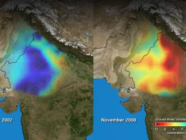 Screenshot from India's disappearing water