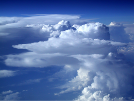 Photo of clouds in the atmosphere.