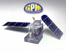 Photo of the GPM Core Observatory Paper Model