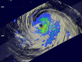 TRMM image of hurricane Soulik