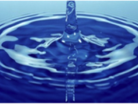Photo of a drop of water rippling in a pond