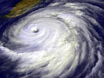 Tropical cyclone viewed from above