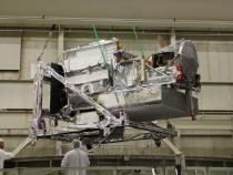 GPM Core Observatory Enters Thermal Vacuum Chamber