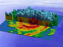 LEGO Model of GPM Data from Hurricane Irma