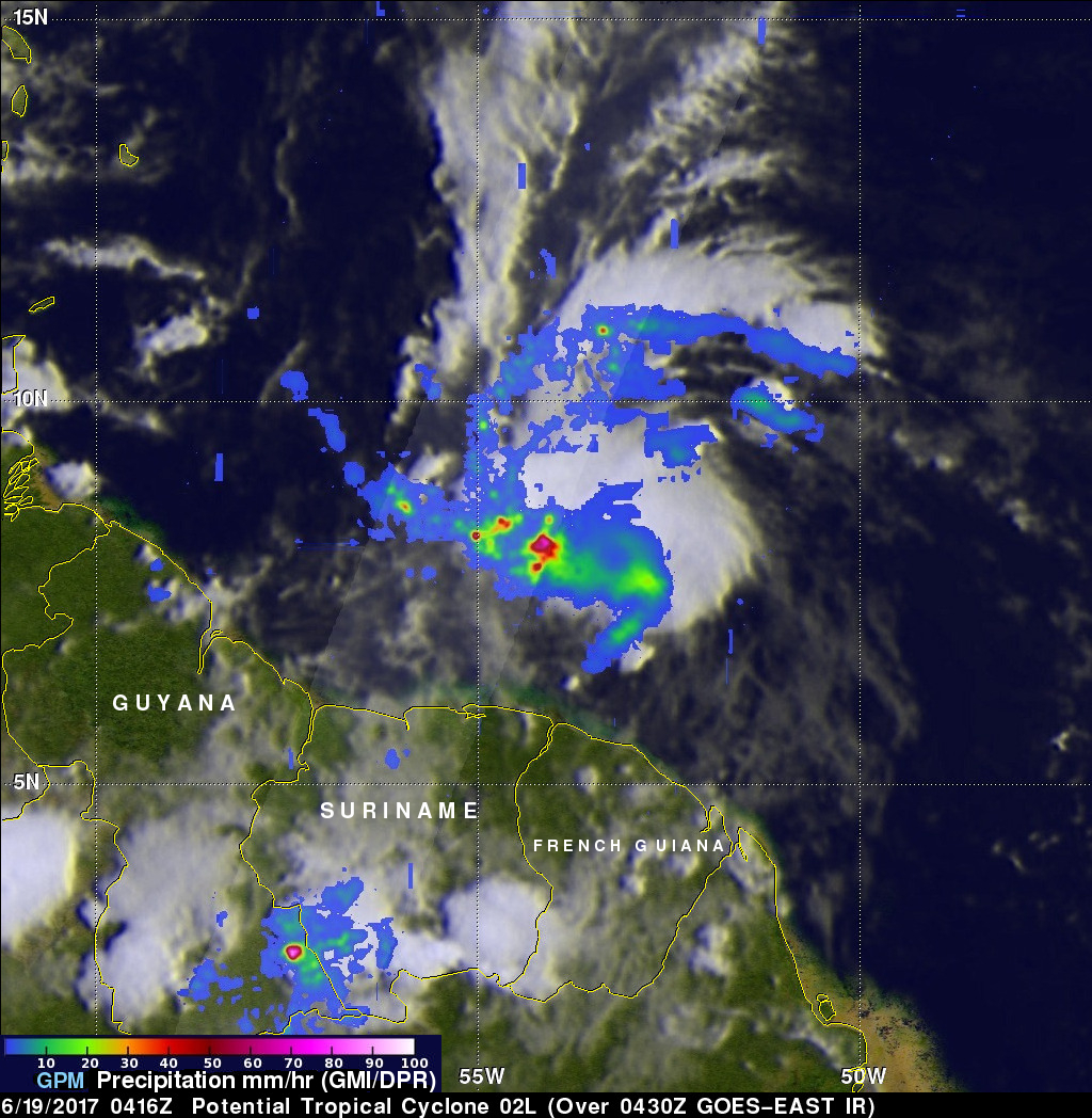 Potential Tropical Cyclone (02L) Examined By GPM