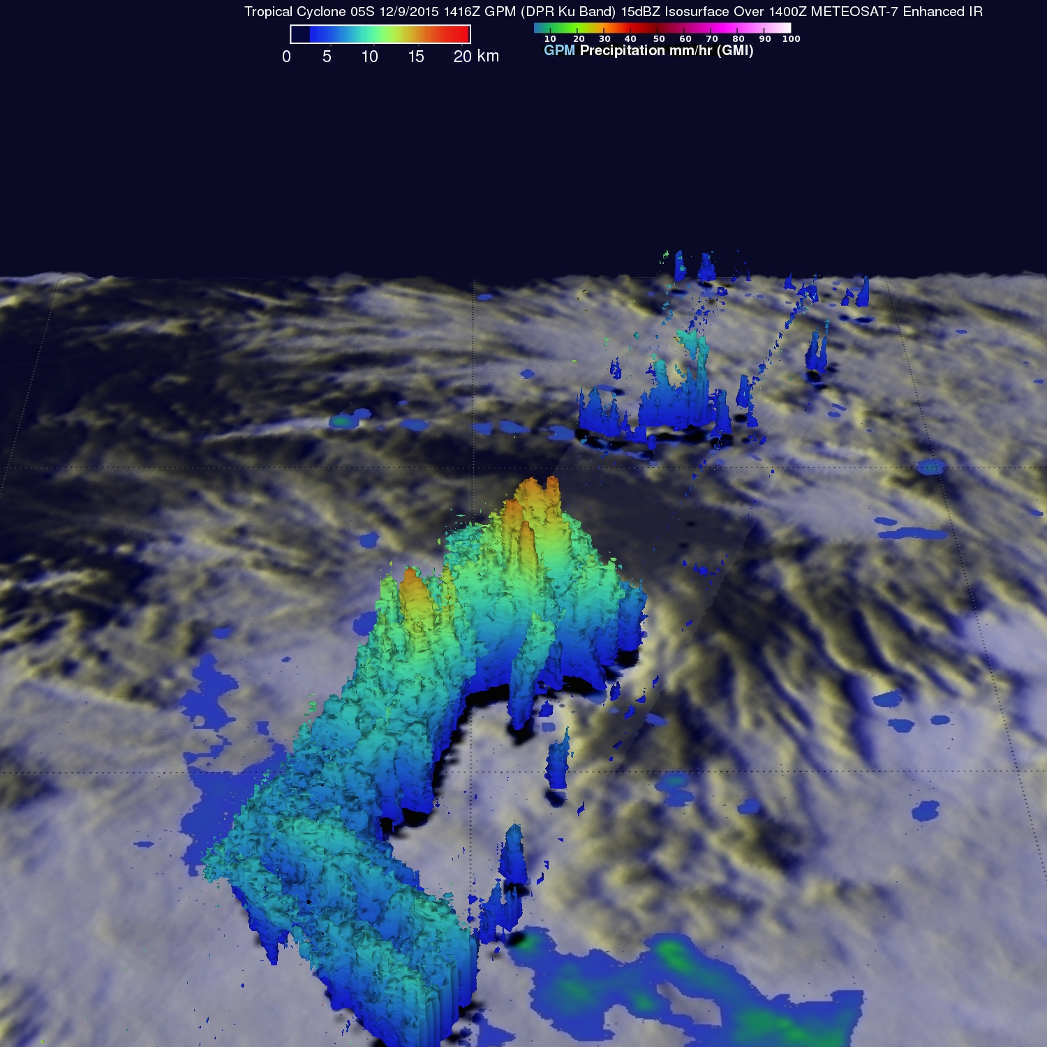 Tropical Cyclone 05S Viewed By GPM