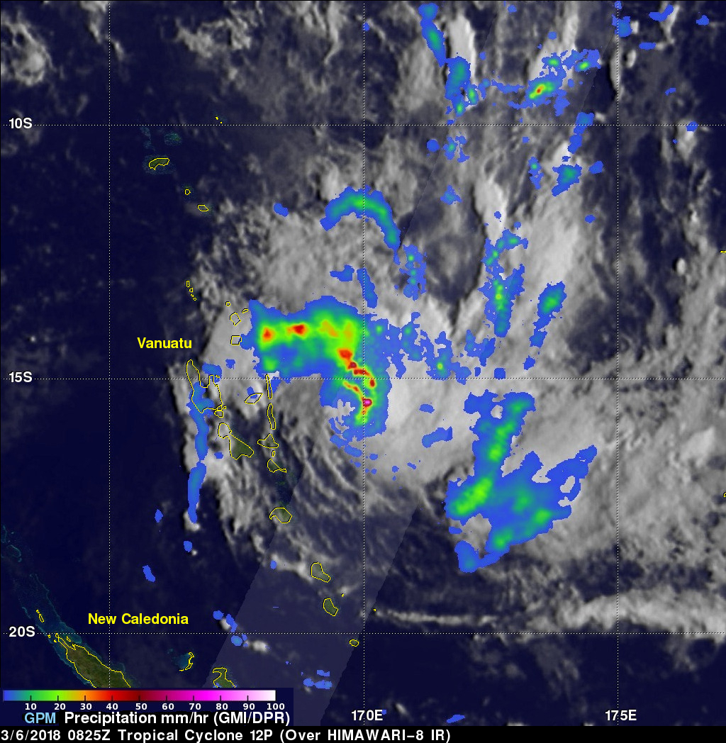 GPM Observes Tropical Cyclone 12P Forming