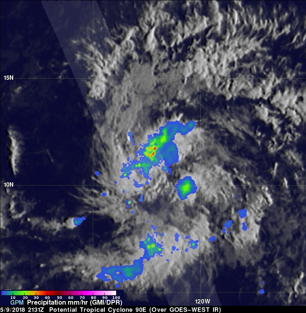 Potential Eastern Pacific Tropical Cyclone Viewed By GPM