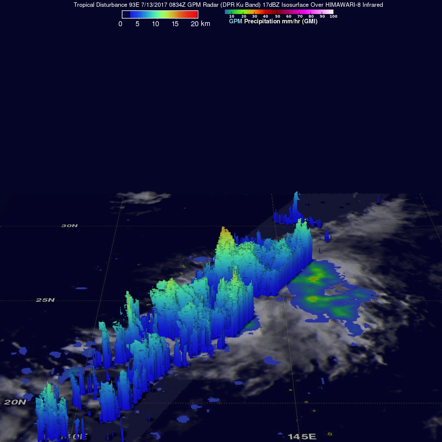 Rainfall In Potential Tropical Cyclone Analyzed