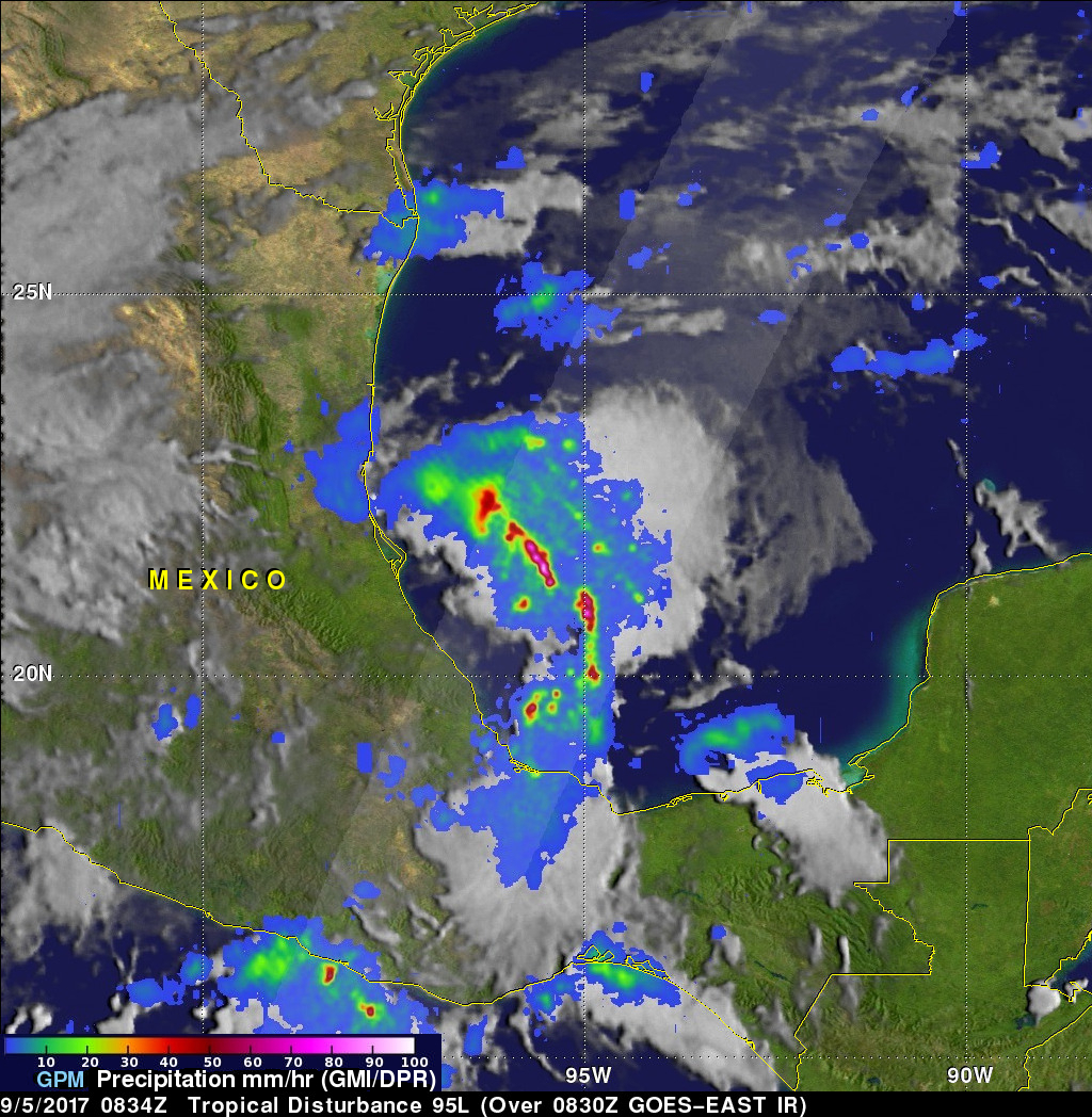 GPM Sees Potential Tropical Depression Developing In The Gulf Of Mexico