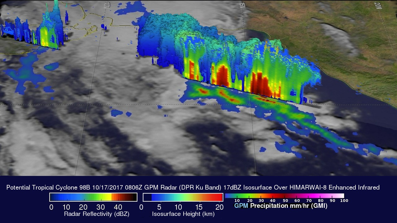 GPM Sees Possible Tropical Cyclone Forming In The Bay Of Bengal
