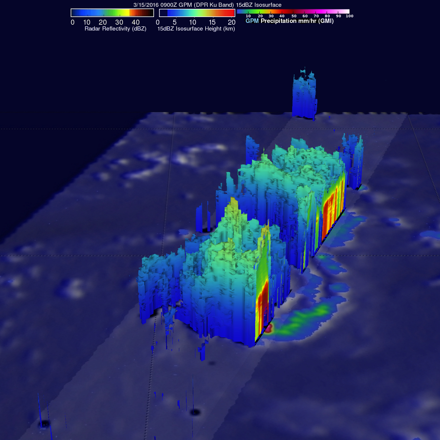 GPM Spots Potential South Indian Ocean Tropical Cyclone