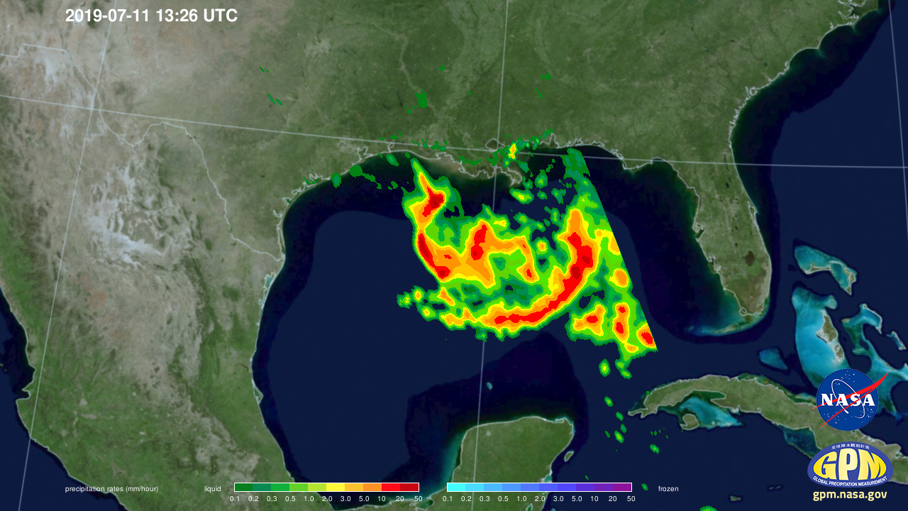 GPM Sees Developing Tropical Storm Barry in the Gulf of Mexico