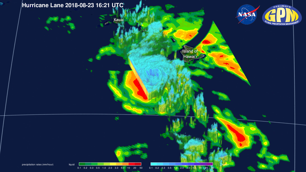GPM Captures Cat.4 Hurricane Lane Passing Close to Hawaiian Islands