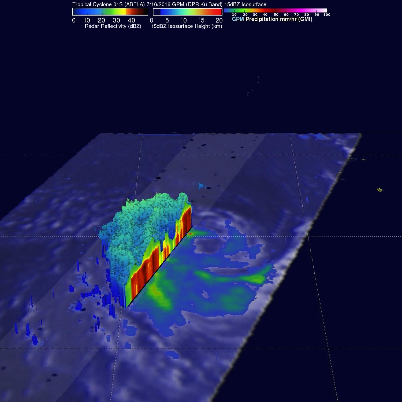 Southern Hemisphere Tropical Cyclone ABELA Viewed By GPM