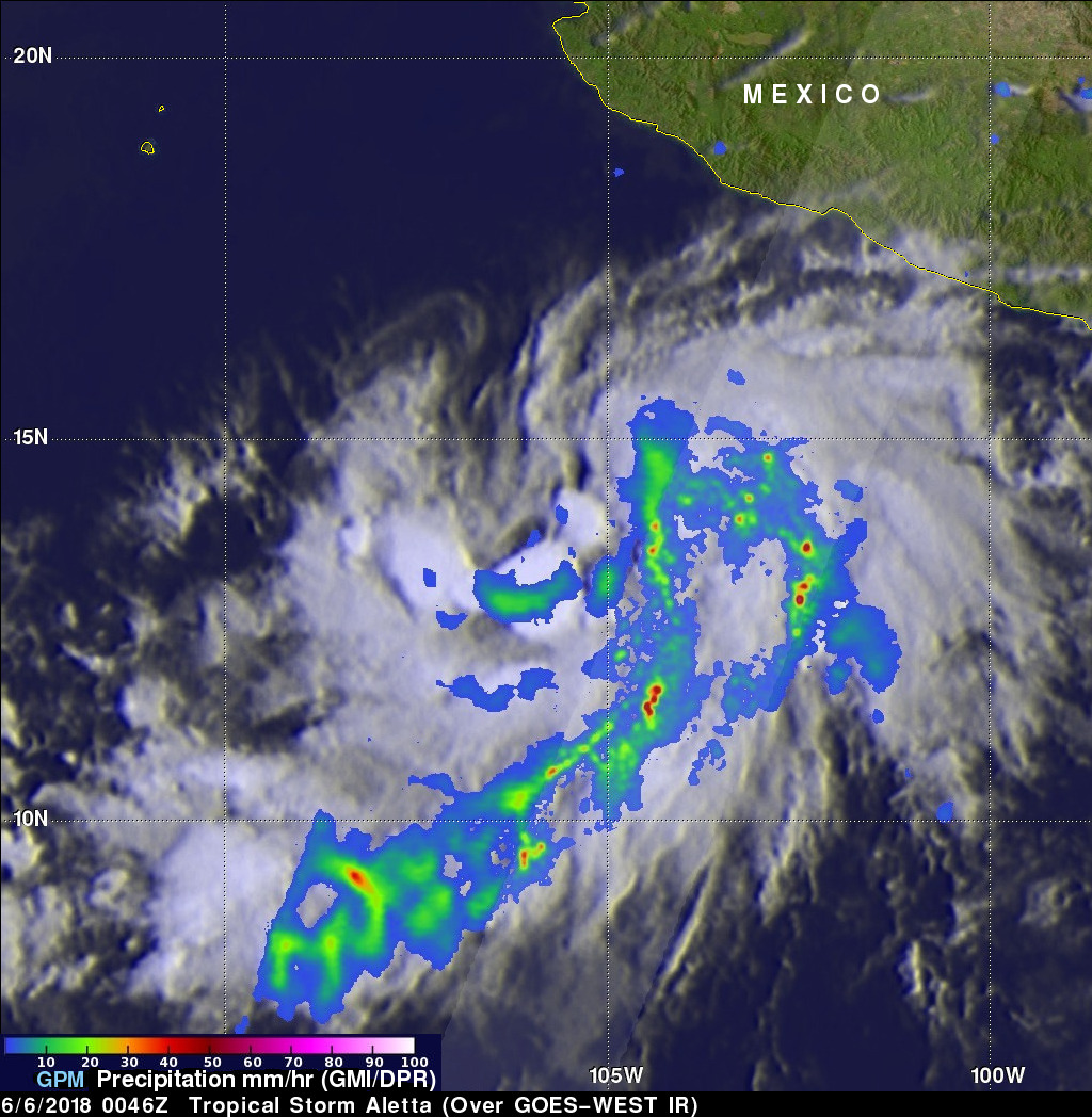 Tropical Storm Aletta Forms In Eastern Pacific