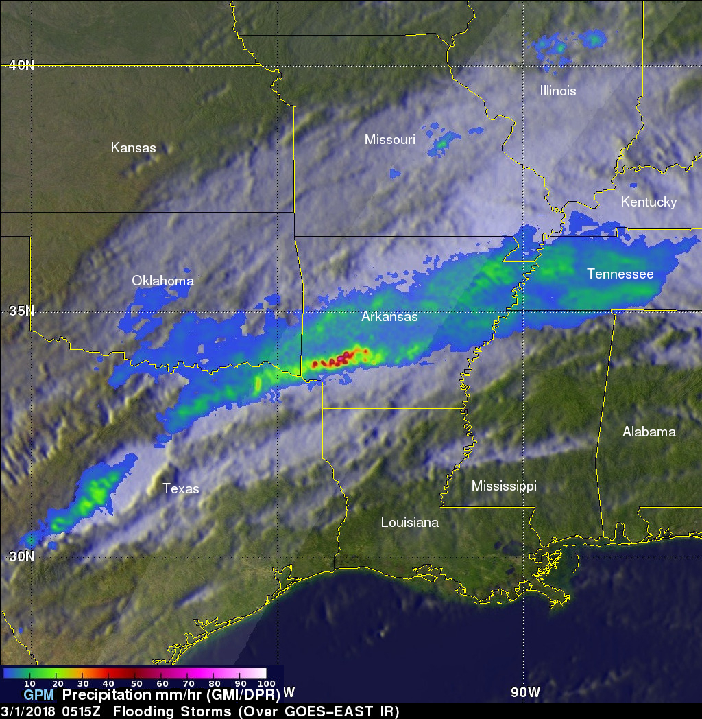 Flooding Midwest Downpours Observed By GPM Satellite