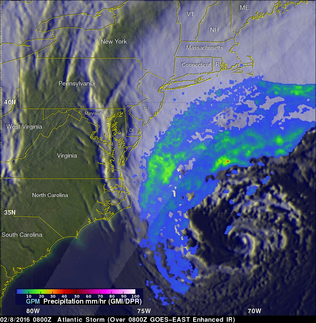 Intensifying Atlantic Storm Examined By GPM