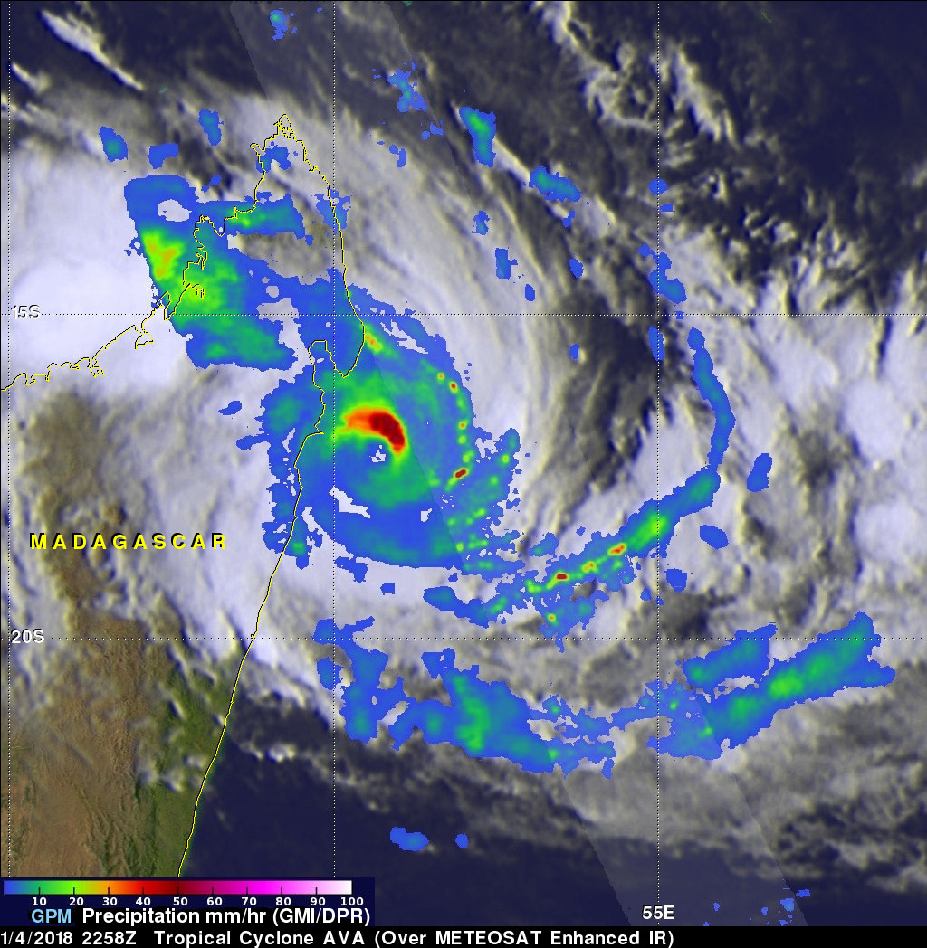 Tropical Cyclone Ava Viewed By GPM