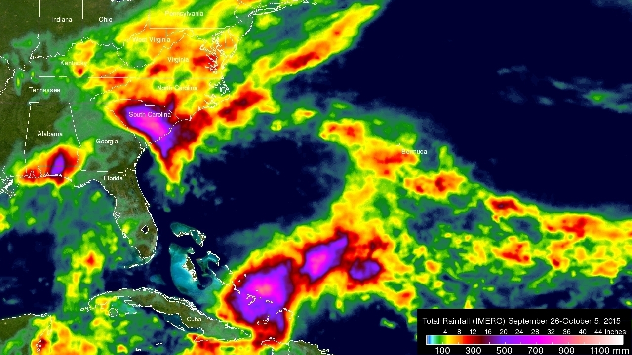 IMERG Measures Historic Rainfall With A Nor'easter and Joaquin