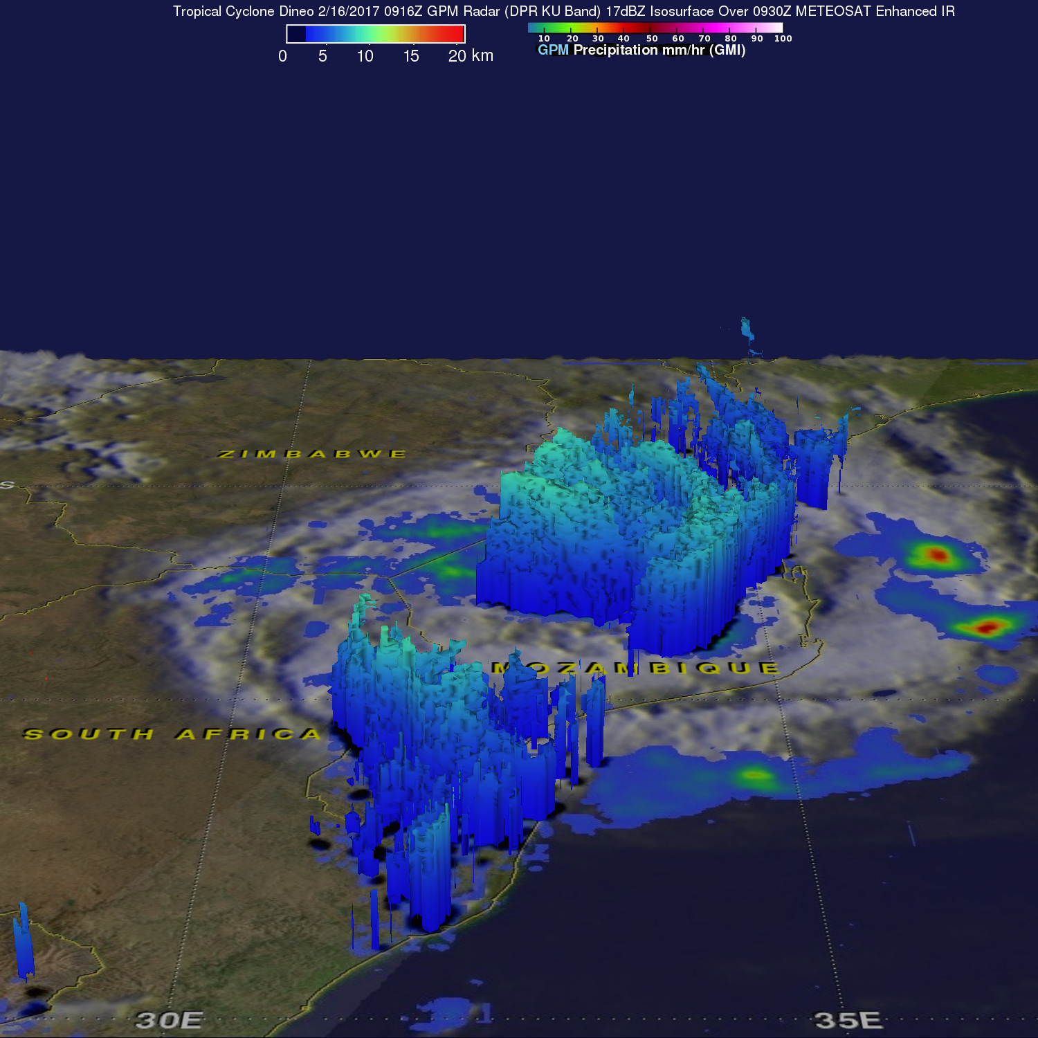GPM Examines Deadly Tropical Cyclone Dineo