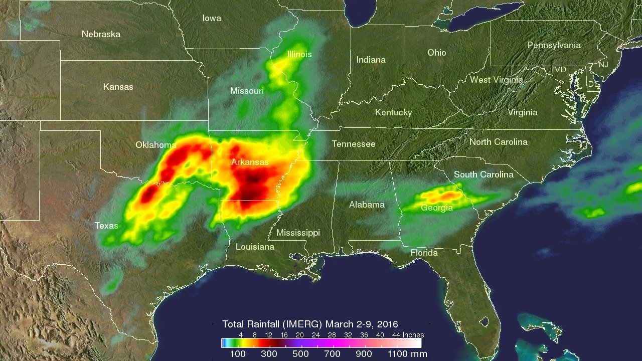 Tornadoes Precipitation Measurement Missions - Usa extreme weather map