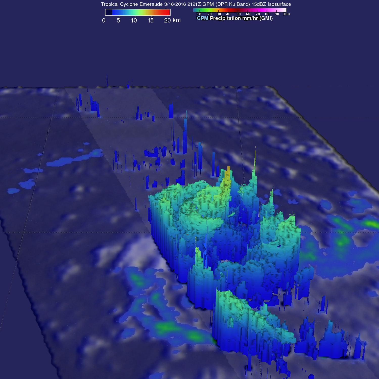 Tropical Cyclone Emeraude Viewed By GPM