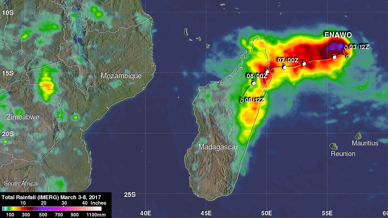 Deadly Tropical Cyclone Enawo Drenches Madagascar
