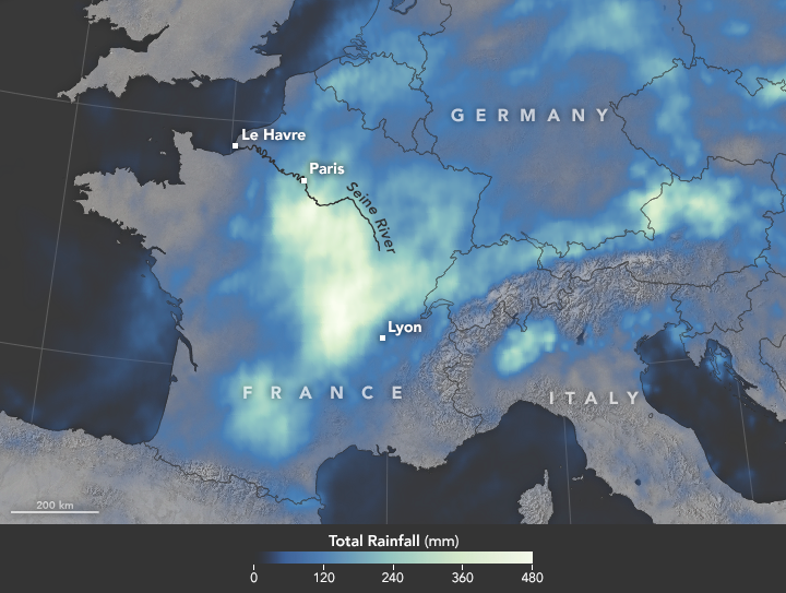 GPM IMERG Sees Flooding in France