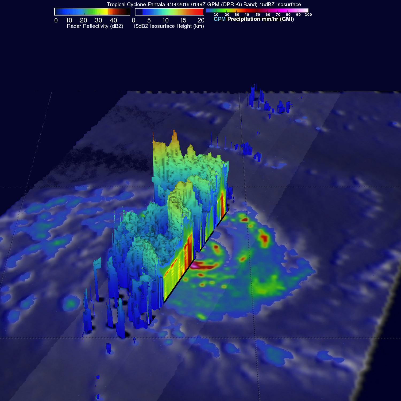 GPM Views Increasingly Powerful Tropical Cyclone Fantala