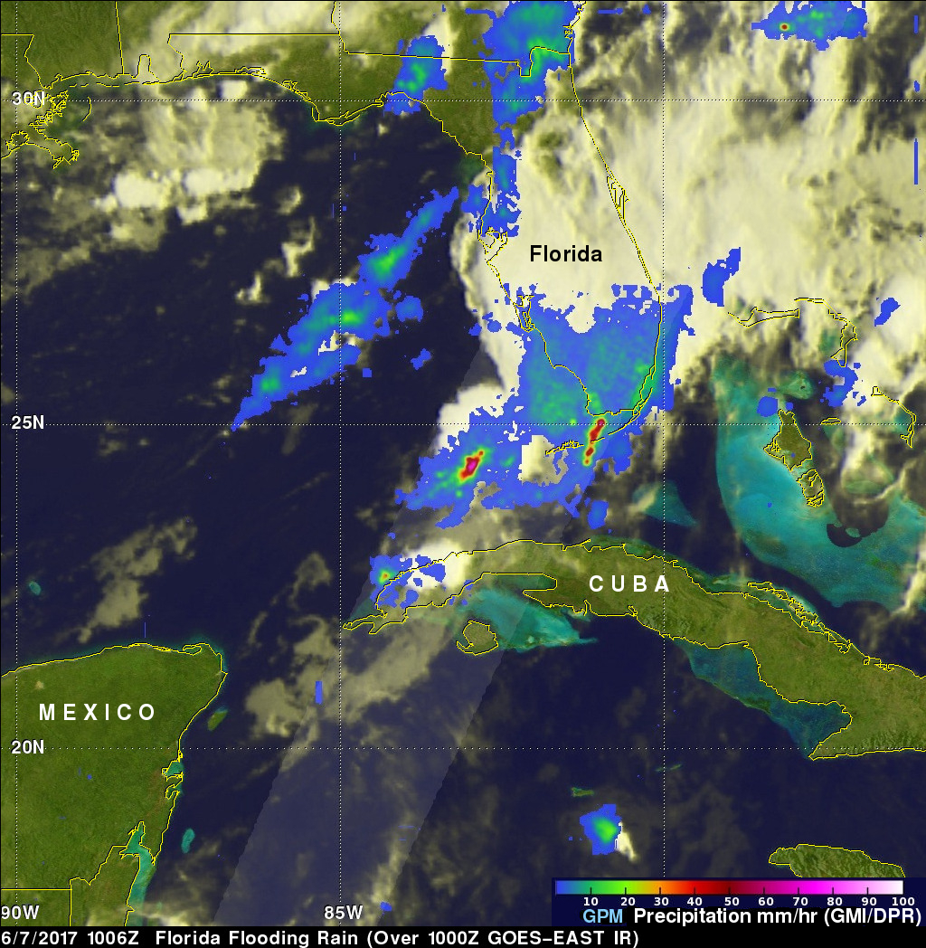 Extreme Florida Rainfall Examined With GPM