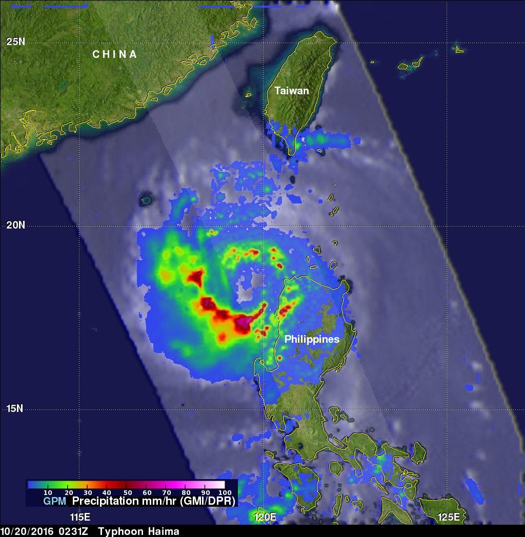 GPM Measures Extreme Rainfall With Typhoons Sarika and Haima