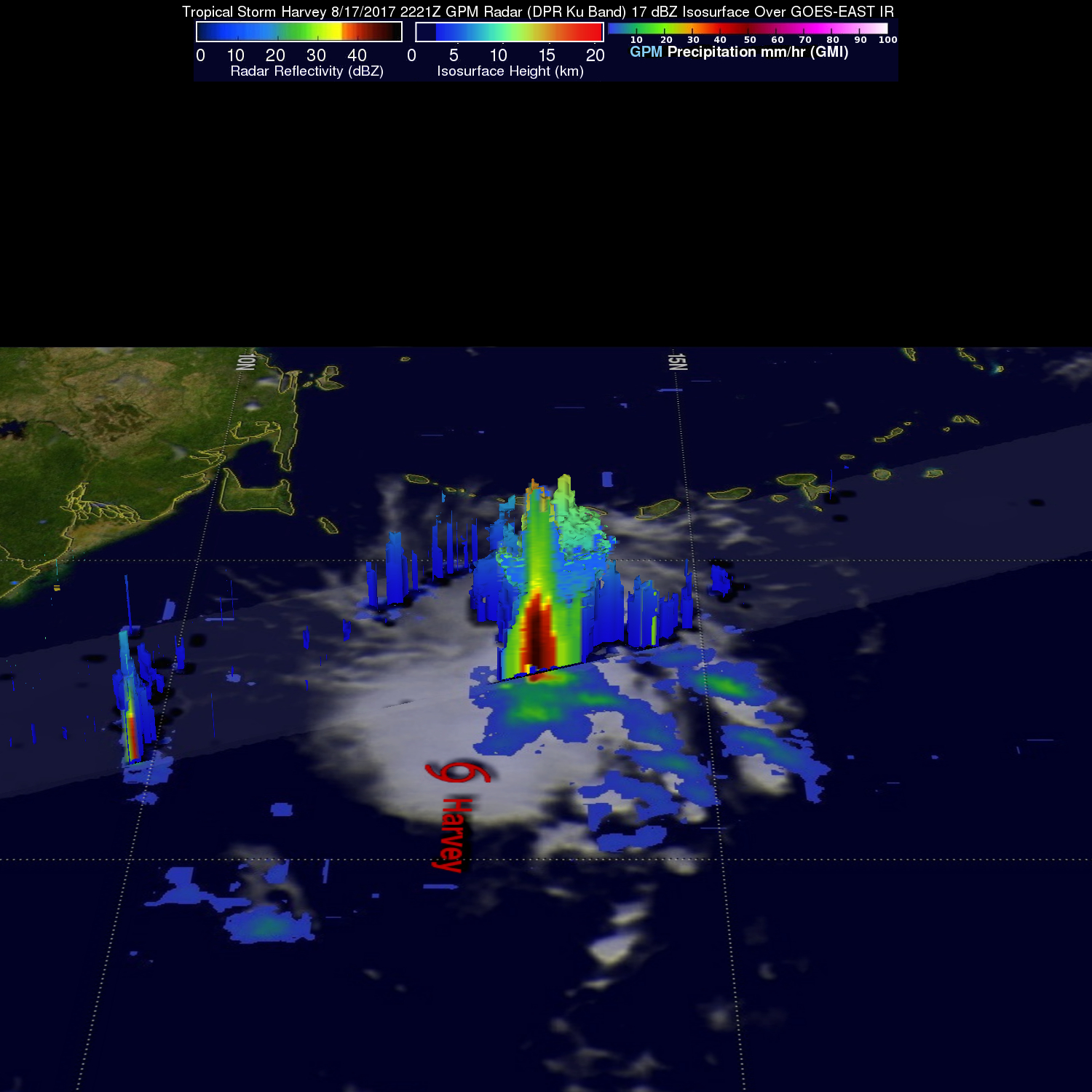 GPM Sees New Tropical Storm Harvey